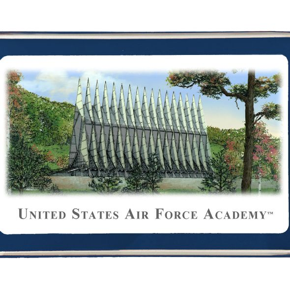 US Air Force Academy Eglomise Paperweight - Image 2