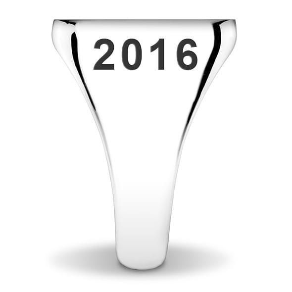 NYU Sterling Silver Round Signet Ring - Image 3
