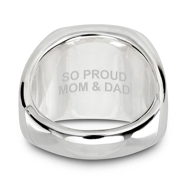 NYU Sterling Silver Round Signet Ring - Image 5