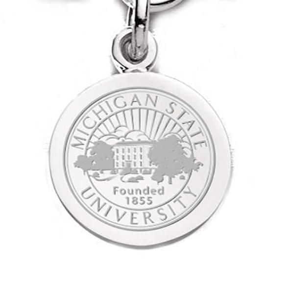 Michigan State Sterling Silver Charm - Image 1