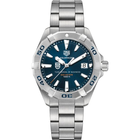 Tuck Men's TAG Heuer Steel Aquaracer with Blue Dial - Image 2