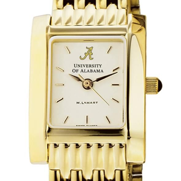 Alabama Women's Gold Quad Watch with Bracelet
