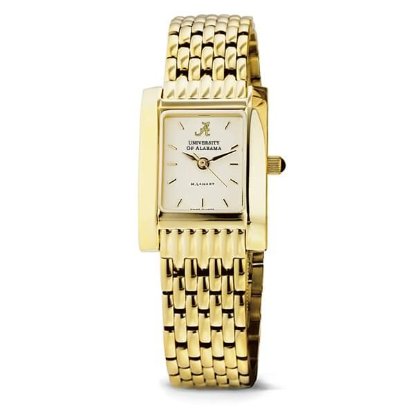 Alabama Women's Gold Quad Watch with Bracelet - Image 2