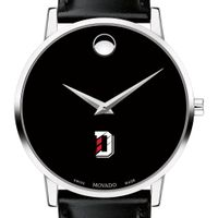 Davidson College Men's Movado Museum with Leather Strap
