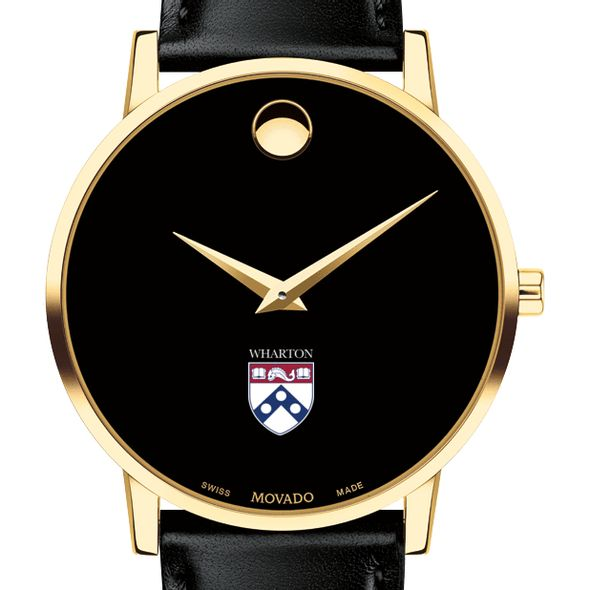 Wharton Men's Movado Gold Museum Classic Leather