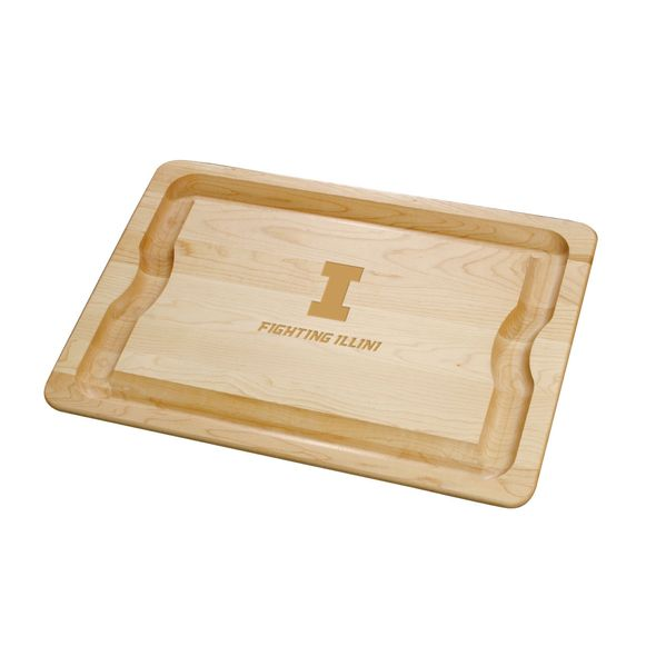 University of Illinois Maple Cutting Board