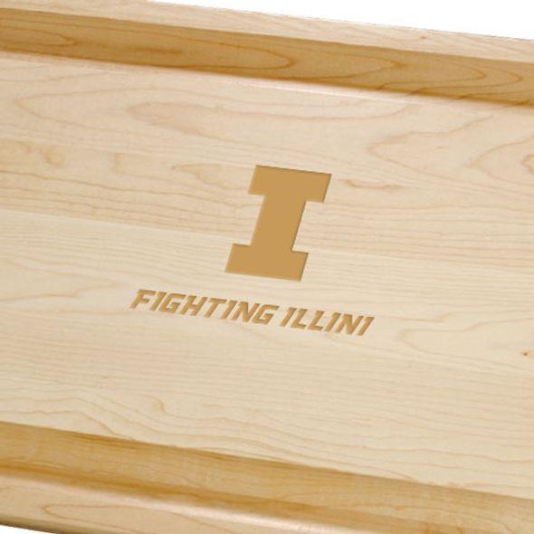 University of Illinois Maple Cutting Board - Image 2