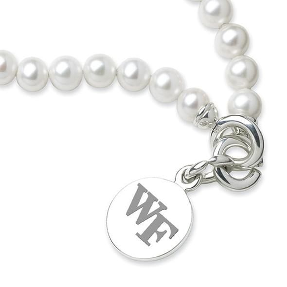 Wake Forest Pearl Bracelet with Sterling Silver Charm - Image 2