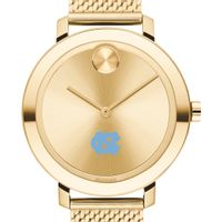 UNC Women's Movado Bold Gold with Mesh Bracelet