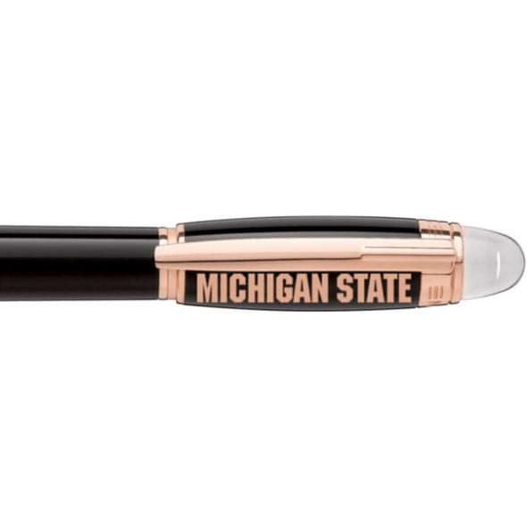 Michigan State University Montblanc StarWalker Fineliner Pen in Red Gold - Image 2