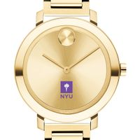 New York University Women's Movado Gold Bold 34