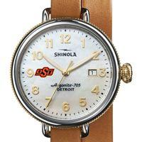 Oklahoma State Shinola Watch, The Birdy 38mm MOP Dial
