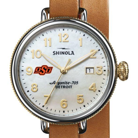 Oklahoma State Shinola Watch, The Birdy 38mm MOP Dial - Image 1