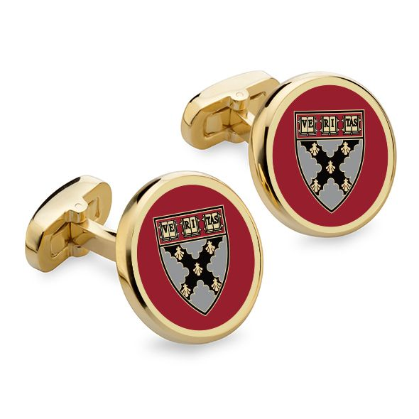 Harvard Business School Enamel Cufflinks - Image 1