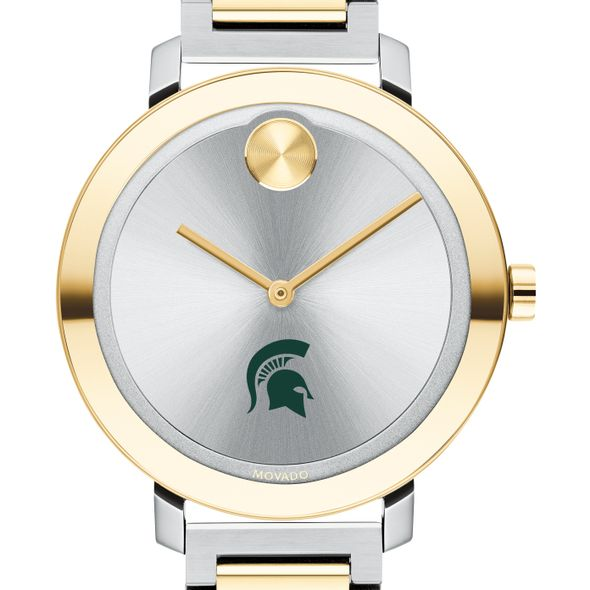 Michigan State University Women's Movado Two-Tone Bold 34