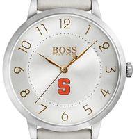 Syracuse University Women's BOSS White Leather from M.LaHart