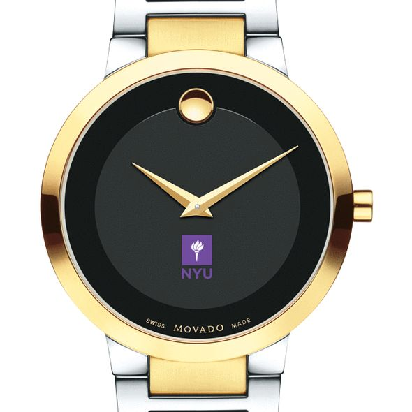 New York University Men's Movado Two-Tone Modern Classic Museum with Bracelet