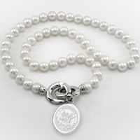 MIT Pearl Necklace with Sterling Silver Charm