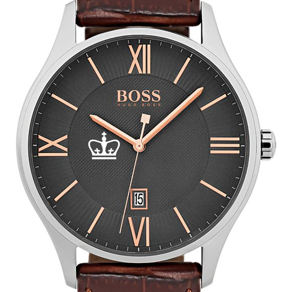 Columbia University Men's BOSS Classic with Leather Strap from M.LaHart