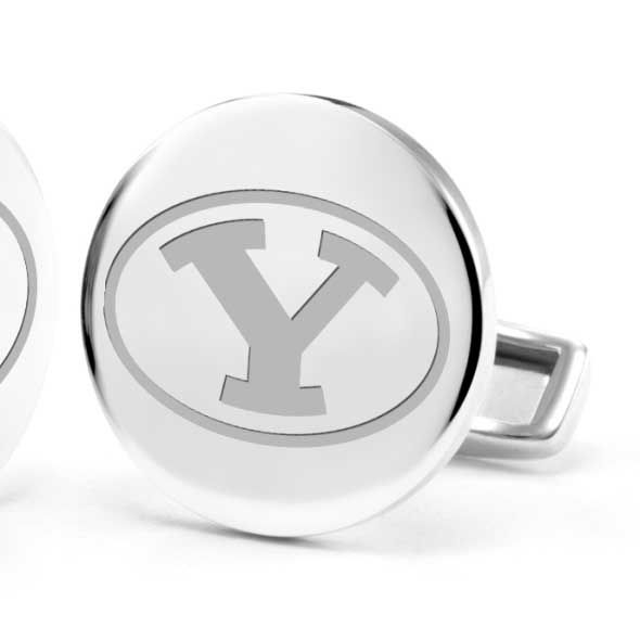 Brigham Young University Cufflinks in Sterling Silver - Image 2