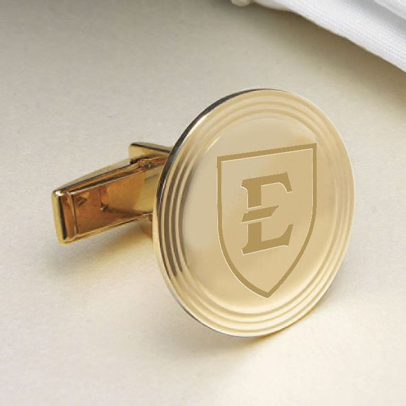 East Tennessee State University 14K Gold Cufflinks - Image 2