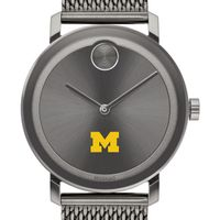 University of Michigan Men's Movado BOLD Gunmetal Grey with Mesh Bracelet