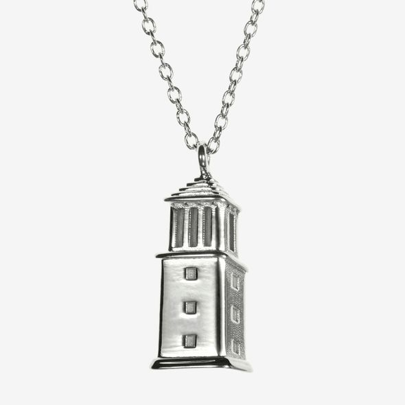 Alabama Sterling Silver Campus Architecture Necklace by Kyle Cavan