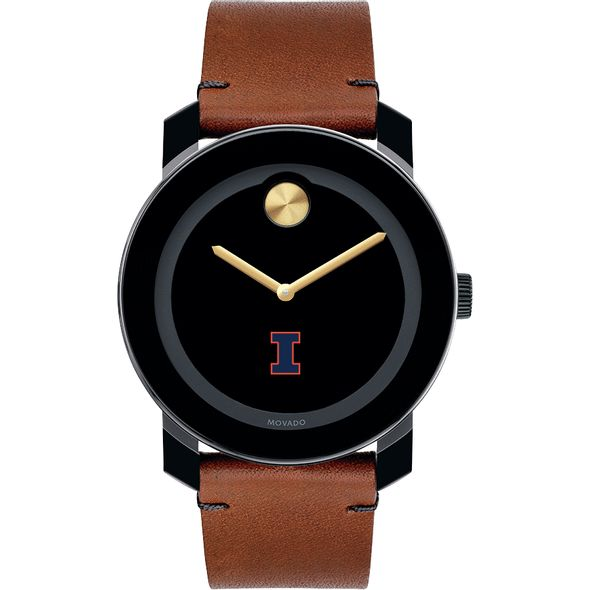 University of Illinois Men's Movado BOLD with Brown Leather Strap - Image 2