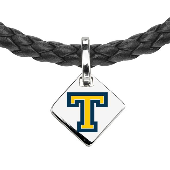 Trinity College Leather Necklace with Sterling Silver Tag - Image 2