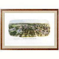 Historic University of North Carolina Watercolor Print