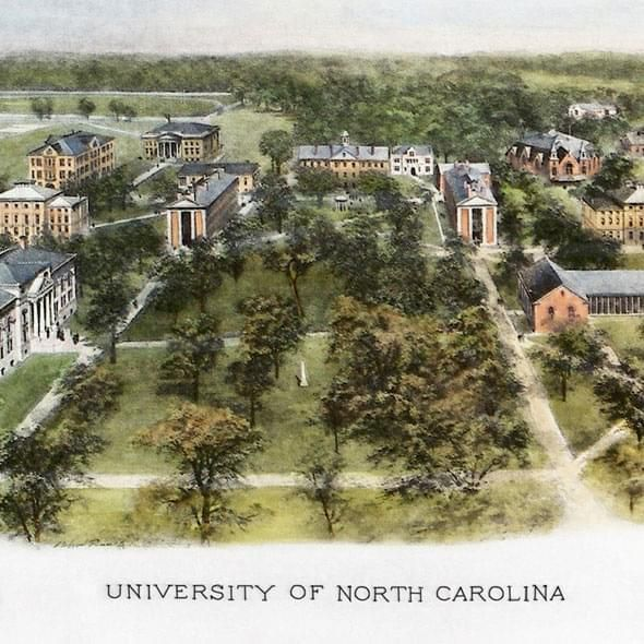 Historic University of North Carolina Watercolor Print - Image 2