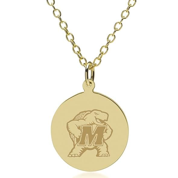 Maryland 18K Gold Pendant & Chain - Image 1