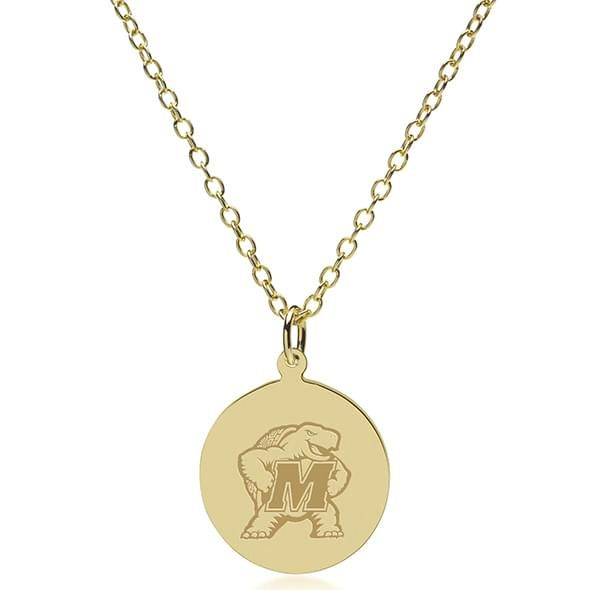 Maryland 18K Gold Pendant & Chain - Image 2