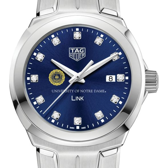 University of Notre Dame Women's TAG Heuer Link with Blue Diamond Dial