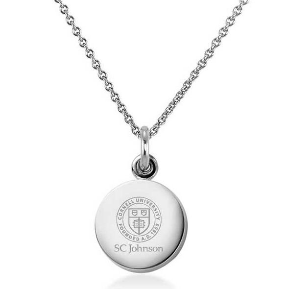 SC Johnson College Necklace with Charm in Sterling Silver
