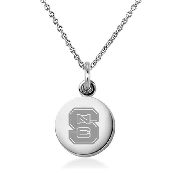 North Carolina State Necklace with Charm in Sterling Silver