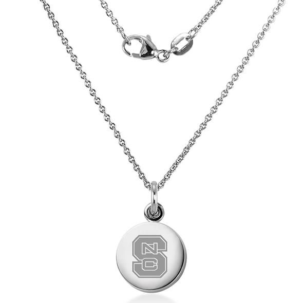 North Carolina State Necklace with Charm in Sterling Silver - Image 2