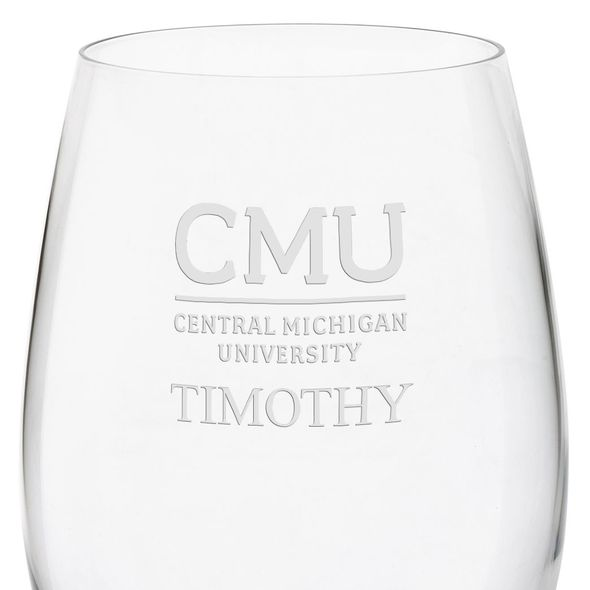 Central Michigan Red Wine Glasses - Set of 2 - Image 3
