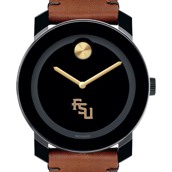 Florida State University Men's Movado BOLD with Brown Leather Strap