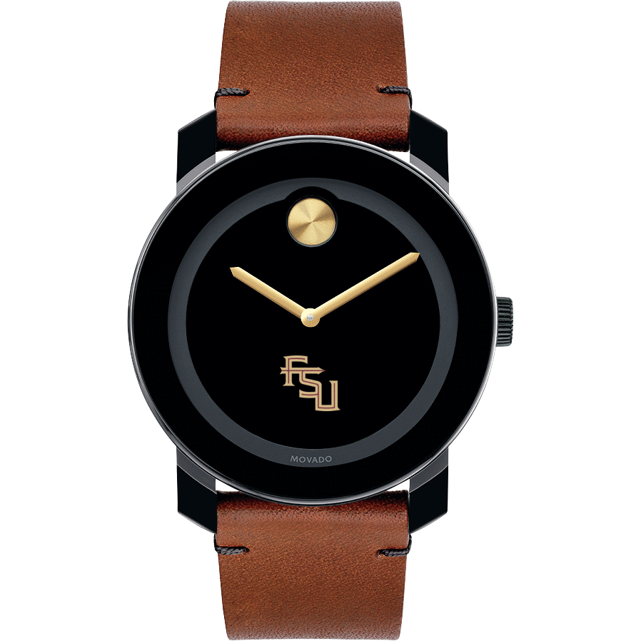 Florida State Men's Movado BOLD with Brown Leather Strap - Image 2