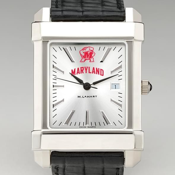 Maryland Men's Collegiate Watch with Leather Strap
