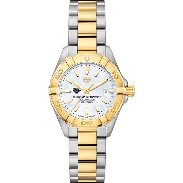 Christopher Newport University TAG Heuer Two-Tone Aquaracer for Women - Image 2