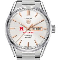 Rutgers University Men's TAG Heuer Day/Date Carrera with Silver Dial & Bracelet