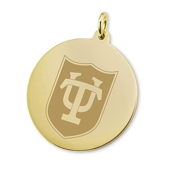 Tulane 18K Gold Charm