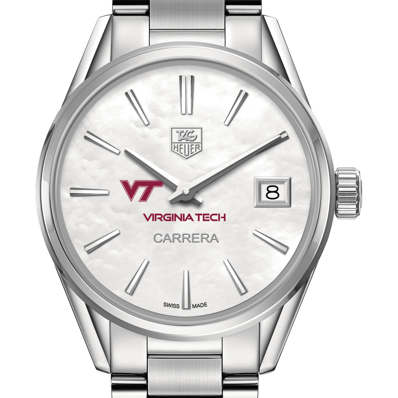 Virginia Tech Women's TAG Heuer Steel Carrera with MOP Dial