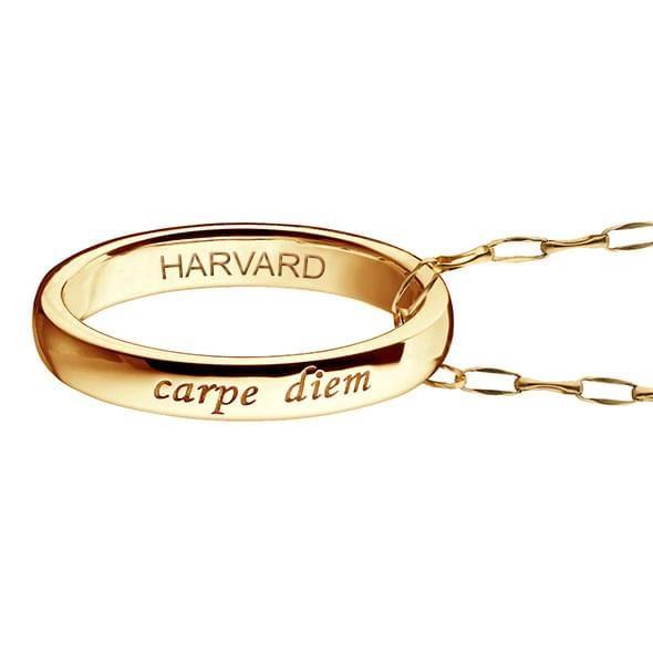 "Harvard Monica Rich Kosann ""Carpe Diem"" Poesy Ring Necklace in Gold - Image 3"