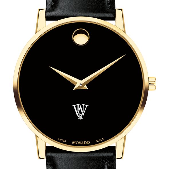 WUSTL Men's Movado Gold Museum Classic Leather