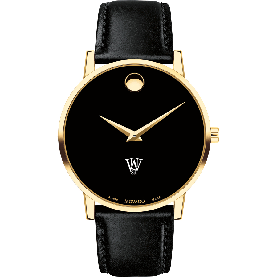 WUSTL Men's Movado Gold Museum Classic Leather - Image 2