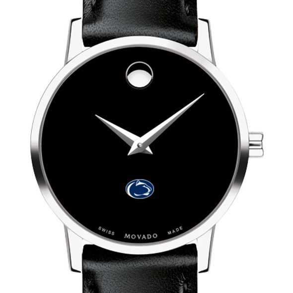 Penn State University Women's Movado Museum with Leather Strap
