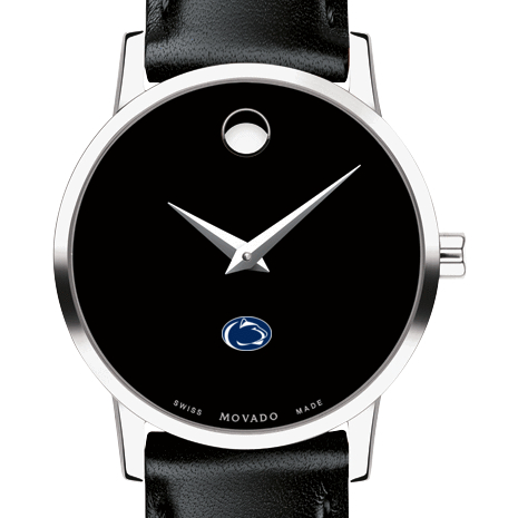 Penn State Women's Movado Museum with Leather Strap